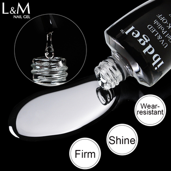 15ml ibdgel Clear Base Coat Top Coat Foundation Base Coat  Gel Nails Brand atte Gloss Matte Top Coat UV Nail Polish Te;pered Top