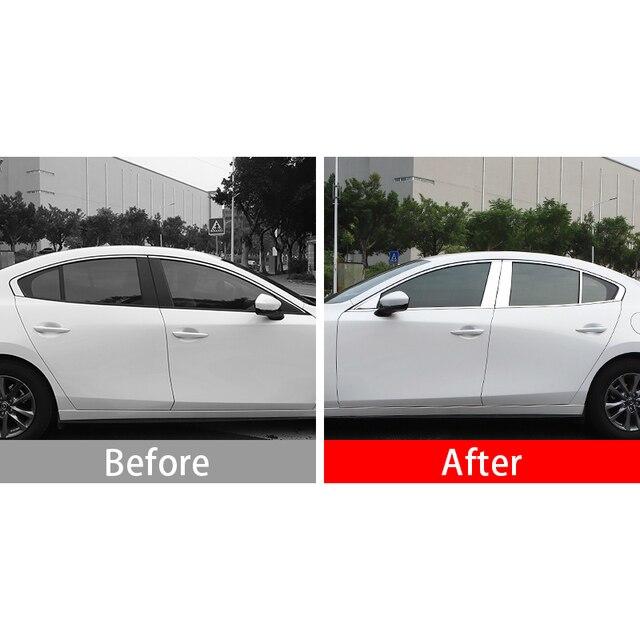 Фото нержавеющая сталь автомобильный зеркальный эффект оконный столб