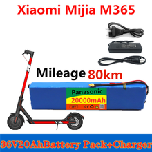 Panasonic 36V 20Ah Battery Pack for Xiaomi Mijia M365 36V 20000mAh Battery pack Electric Scooter BMS +charger(China)