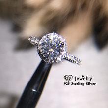 CC العصرية خواتم للنساء S925 الفضة الزفاف خاتم الخطوبة الذهب الأبيض زركون غرامة مجوهرات قطرة الشحن CC583
