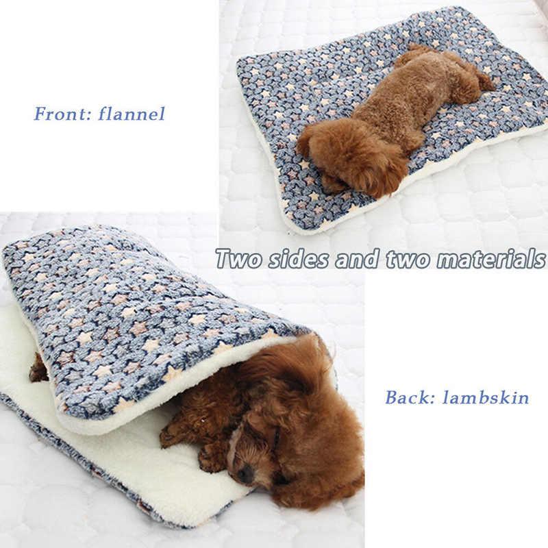 2019 ベッド子犬クッションハウスソフト暖かい大型ペット犬猫の犬小屋マット毛布クッションマットレス小屋ソフトクレートマット