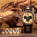BOBO BIRD reloj de madera para hombre reloj de pulsera muestra fecha y semana relojes en regalos caja de madera reloj hombre