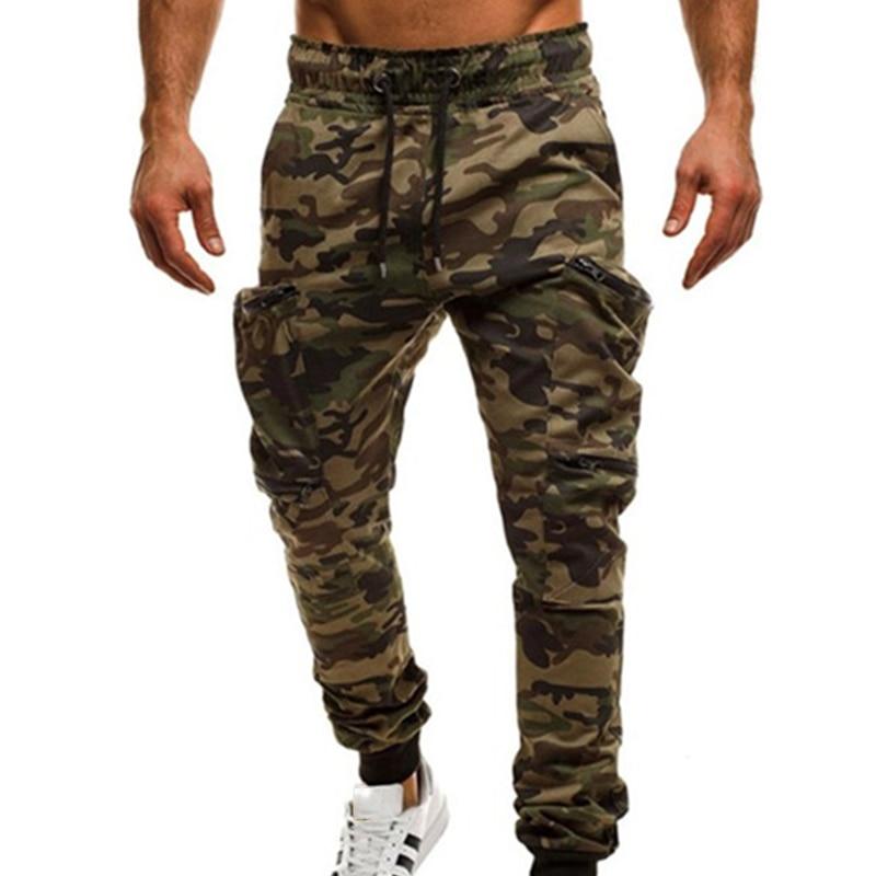 Mens Pants Elastic Waist Trouser Streetwear military Men's joggers sweatpants cargo Pants for men ropa hombre pantalon