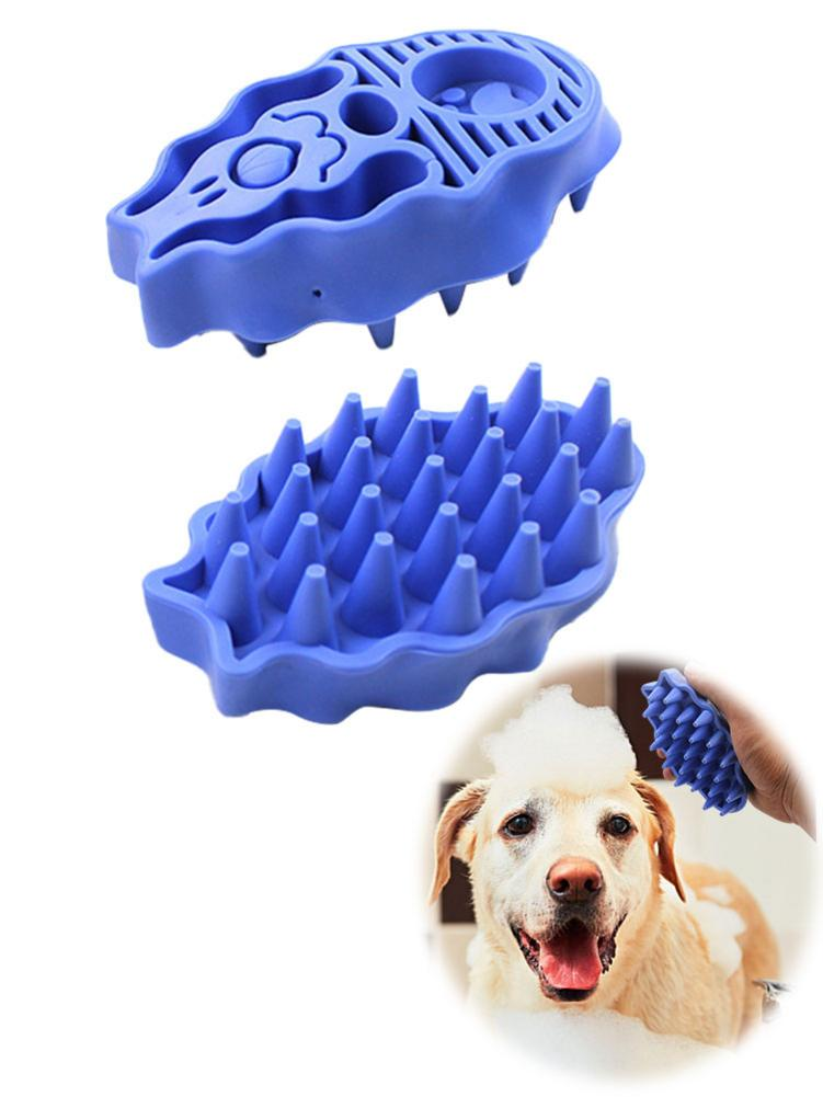 Silicon Pet Dog Brush And Comb Bathing Tool Massaging Glove Dog Brush Long Hair Grooming Clean Pet Hair Remover