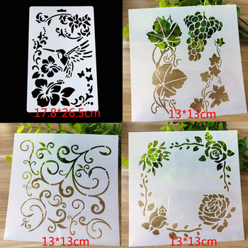 4pc/set Stencils Painting DIY Butterfly Scrapbooking Album Embossing Bullet Journal Reusable Flower Template
