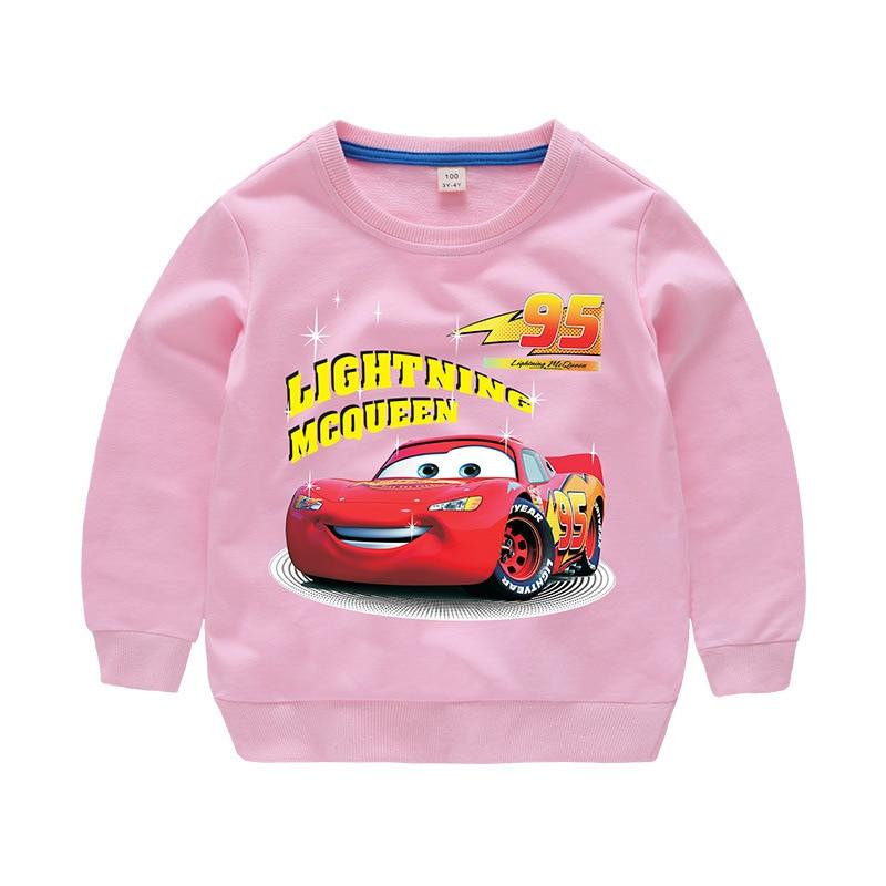 Disney Cars Sweatshirt Cotton Boy Sweatshirt Child Lightning McQueen Sweatshirt 4