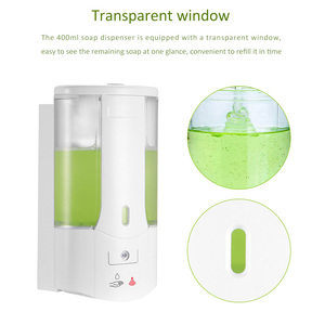 Image 4 - 400ml Automatic Foam Soap Dispenser Wall Mounted Liquid Soap Dispenser Smart Sensor Touchless Bathroom Kitchen