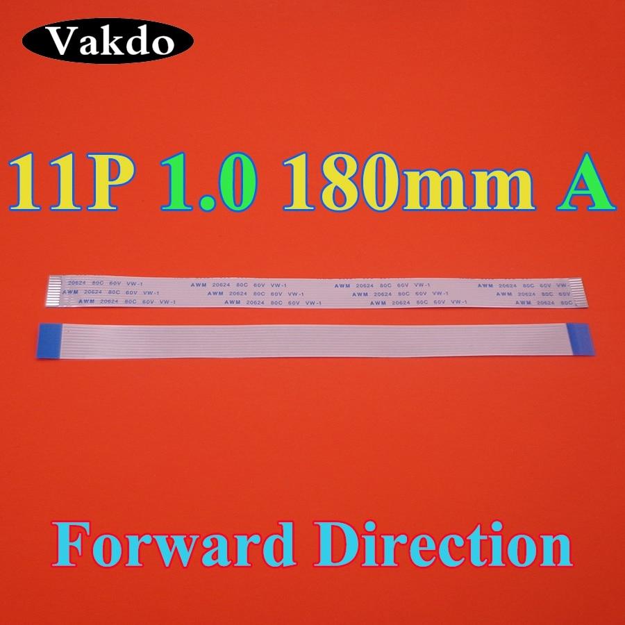 1-100pcs/lot  FFC FPC Flat Flexible Cable Type A 1.0mm Pitch 11 Pin Forward Length 180mm 18cm Width 12mm Ribbon Flex 11pin
