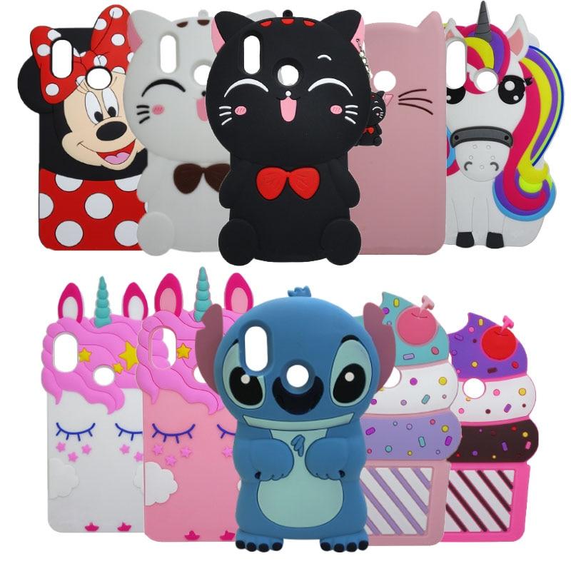 3D Cute Cartoon Minnie Cat Cupcake Cases For Xiaomi Redmi Note 7 Silicone Case For Redmi Note 7 Pro Cover Rubber Coque