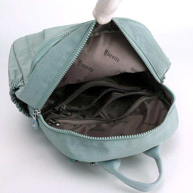 Women Waterproof Nylon Backpack Fashion Female Shoulder Bag Youth Vitality Style Multi-functional Travel School Bag 5