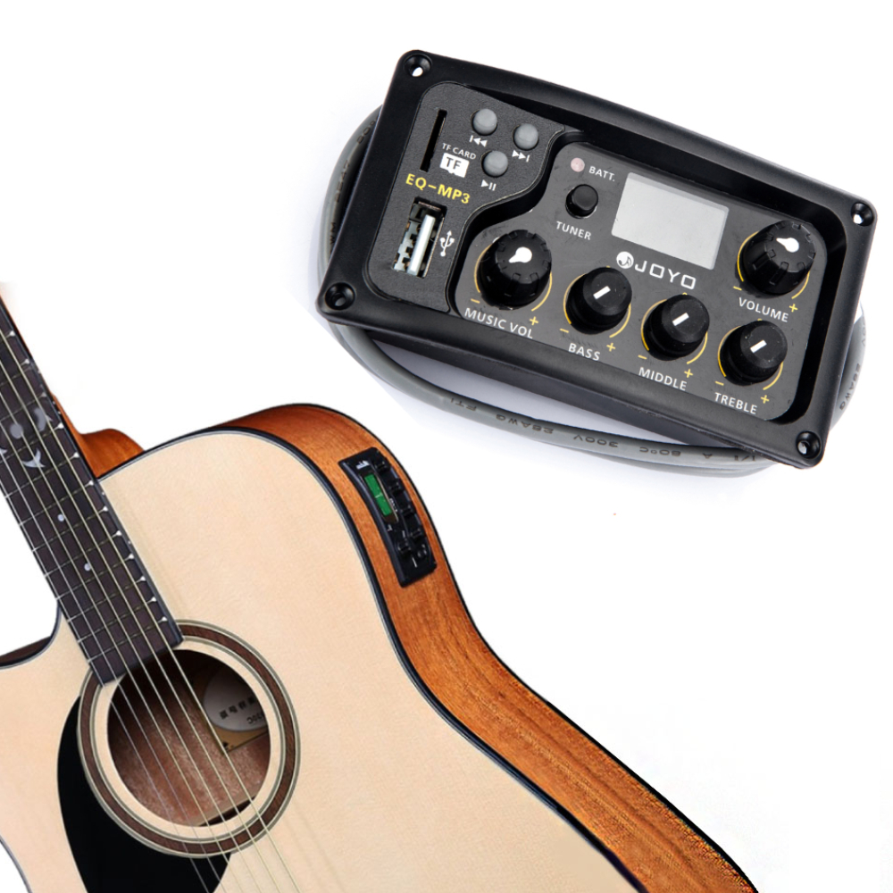 JOYO EQ-MP3 Acoustic Guitar MP3 Equalizer Music Volume Bass Middle Treble Presence 3 Band Captador New 150 C