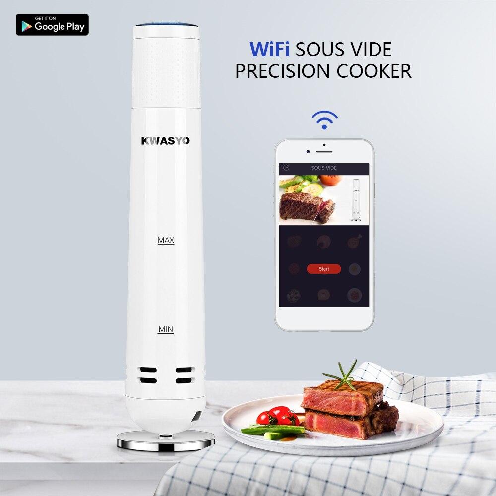 KWASYO mijoteuse Sous Vide cuiseur à nourriture lente Sous Vide 1000W puissant circulateur d'immersion-Wifi App affichage de minuterie de contrôle intelligent