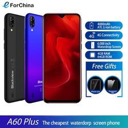 Blackview A60 Plus смартфон 4 Гб + 64 Гб 6,088 дюймв виде капли воды, Экран 4080 мА/ч, MTK6761V/ВБ 4 ядра Android 10 Мобильный телефон Face ID 4G