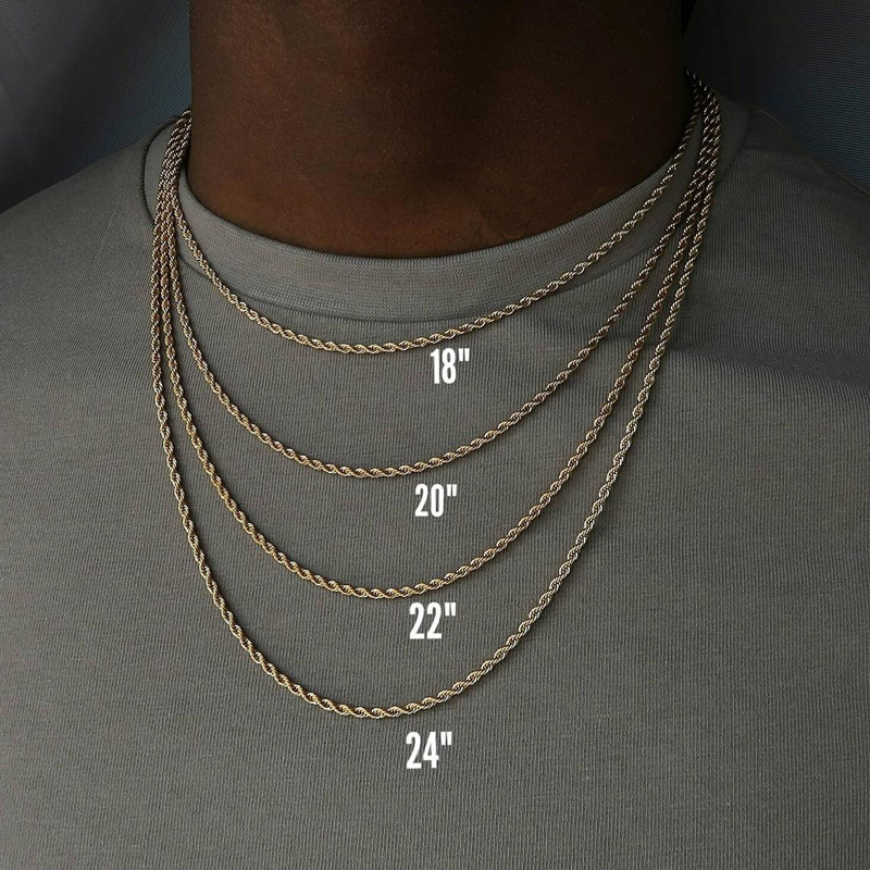 2020 collana da uomo classica con catena in corda larghezza 2/3/4/5 MM collana a catena cubana Figaro in acciaio inossidabile per uomo donna gioielli 2