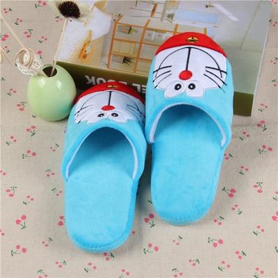 H53703a433f604b7ab4f8f1676a2f70e9B Anime japonês doraemon casa chinelos homem gordo azul anime sapatos doraemon cosplay unisex de volta para o futuro sapatos nobita nobi