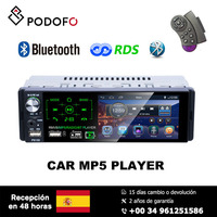 Podofo 1 din MP5 player 4.1'' touch screen HD capacitive screen Car single set MP5 RDS Radio P5130
