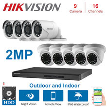 Гибридный видеорегистратор xvr 1080p 2 МП hikvision 16 каналов