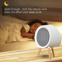 800W Electric Portable Heater with Thermostat Flip and Overheat Protection for Home Bedroom Or Office US Plug