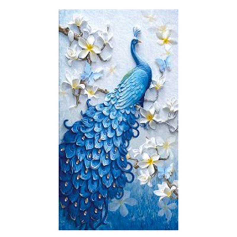 Best DIY Diamond Painting, Diamond Embroidery, Animal, Peacock, Full, Rhinestone, 5D Diamond Mosaic, Decoration