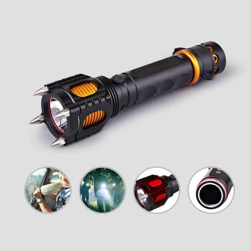 Selbst-verteidigung multi-funktion anti-aufruhr taktische taktische taschenlampe LED wiederaufladbare outdoor sicherheit ausrüstung