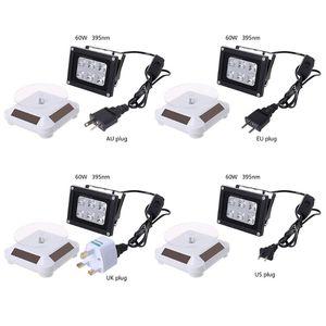 Image 1 - 60 واط عالية القوة 39nm الأشعة فوق البنفسجية LED الراتنج مصباح علاجي تعمل بالطاقة الشمسية الدوار ثلاثية الأبعاد جزء الطابعة