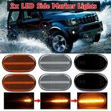 Par led marcador lateral fluindo sinal de volta lâmpada dinâmica blinker para suzuki jimny b64w jb74 jb23 jb64 para mazda az fora de estrada jm23w