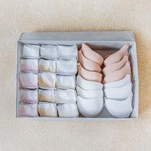 luluhut washable underwear storage box oxford cloth foldable socks bra sorting box 2 in 1 home storage wardrobe organizer(China)