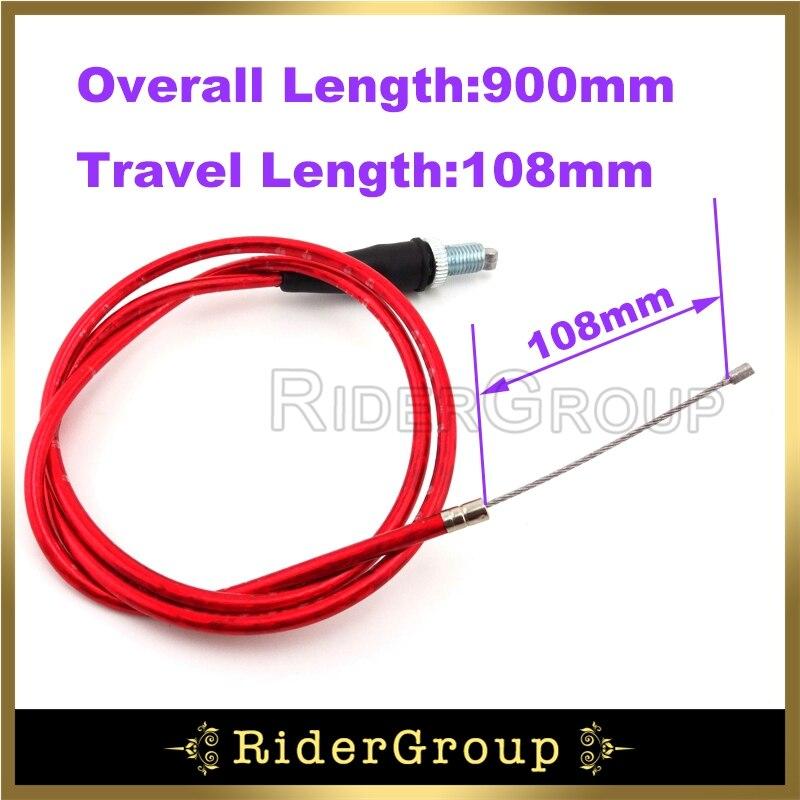 Красный трос дроссельной заслонки для китайского производства Lifan YX 50 70 90 110 125 150 160cc двигатель Pitster Pro SSR SDG Запчасти для питбайка