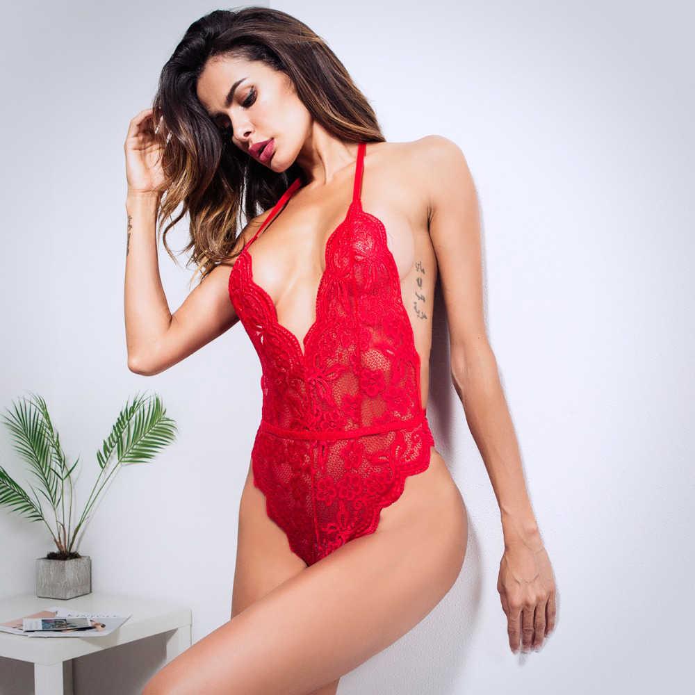 Phụ Nữ Teddy Quần Lót Nóng Gợi Tình Đầm Porno Plus Kích Thước Sexi Quần Lót Ren Trong Suốt Lenceria Giới Tính Babydoll Trang Phục