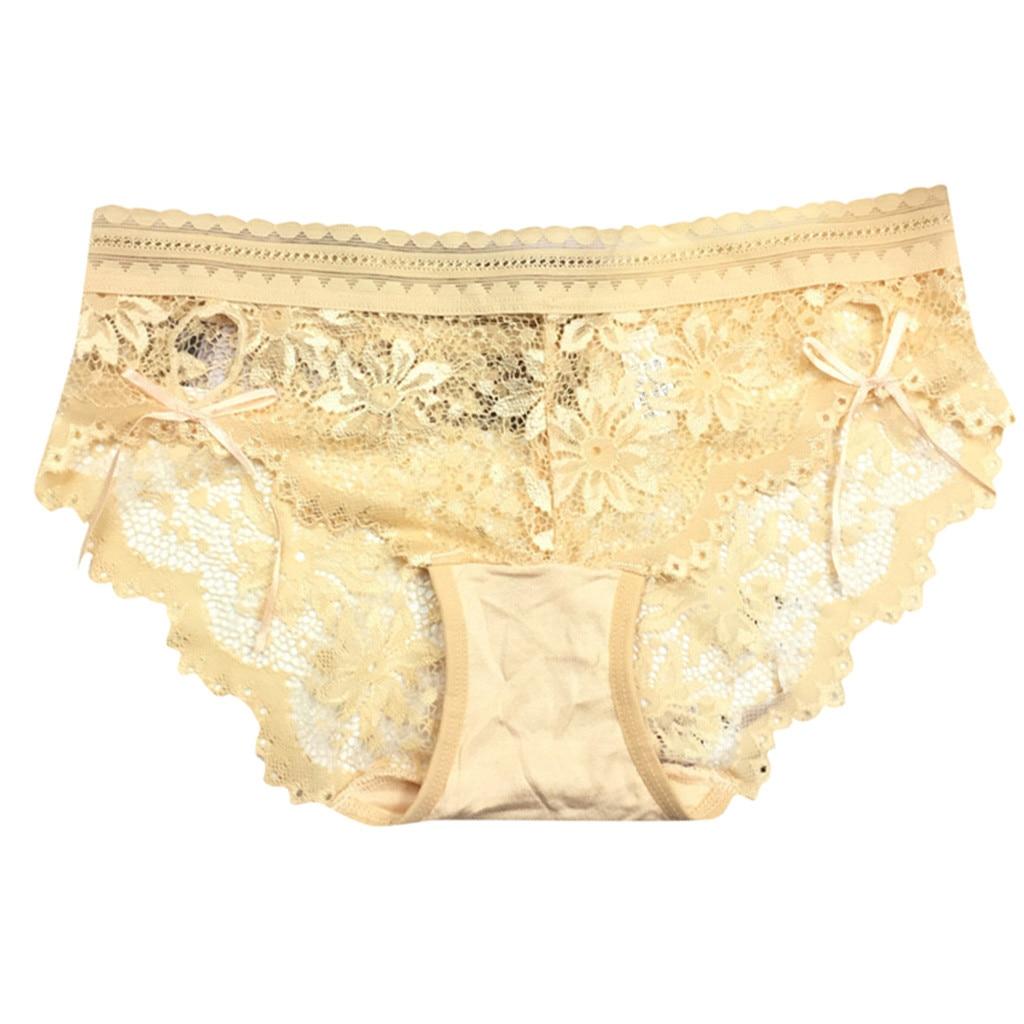 Floral Lace Trim Shorts Solid Panties Briefs Women/'s Lingerie Underwear M-3XL US