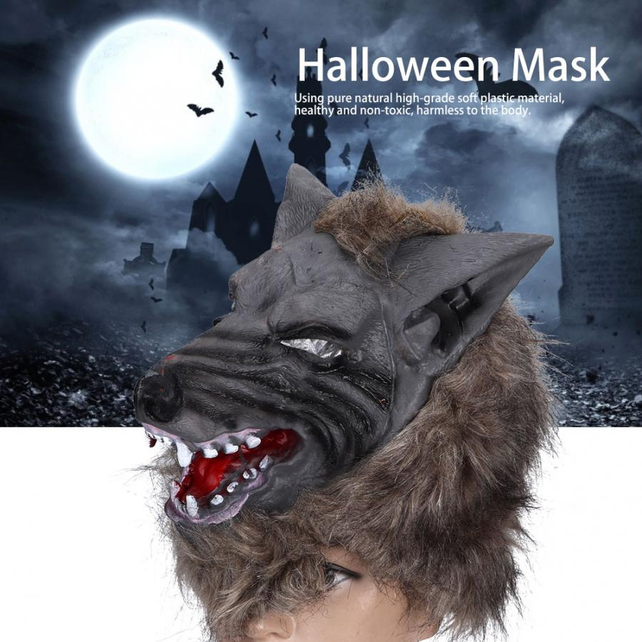 Wolf Mask Scary Werewolf Mask for Festival Cosplay Halloween Costume Animal Head Masks for Adult Kids