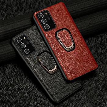 Genuine Litchi Grain Leather Case For Samsung Galaxy Note 20 Ultra Note 10 Lite 9 8 A21S A50 A70 A51 S10 S20 Plus Magnetic Cover