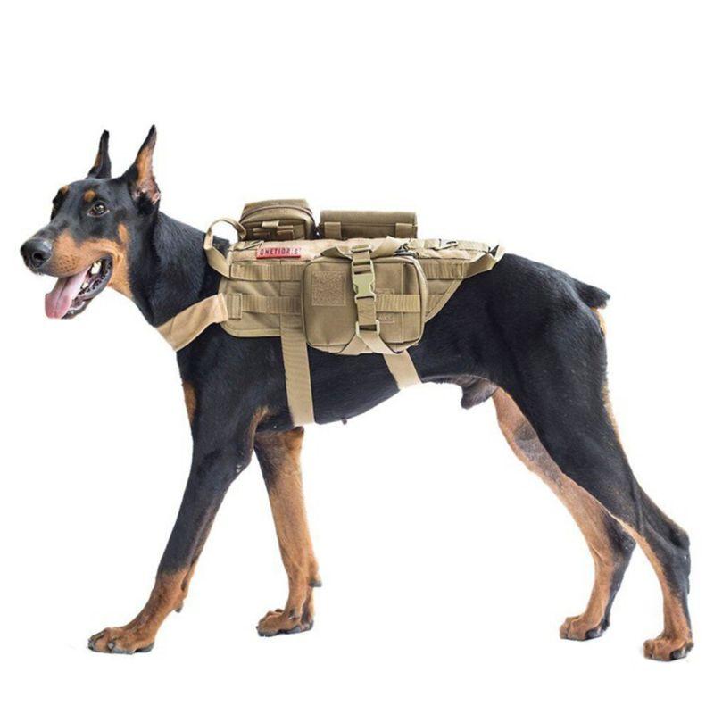 Image 2 - Tactical Dog Training Vest Harness Detachable Pouches Military K9  Harness Large Dog Training EquipmentDog Vests