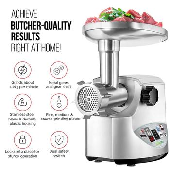 Heavy Duty 3000W Max Powerful Electric Meat Grinder Home Sausage Stuffer Meat Mincer Food Processor 4