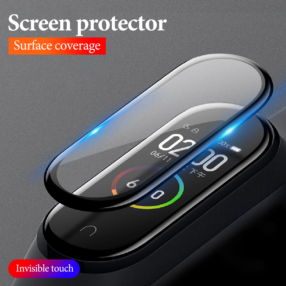 3D Protective Film For Xiaomi Mi Band 4 Mi Band4 MiBand 4 Smart Wristband Bracelet Full Screen Hydrogel Films Not Tempered Glass