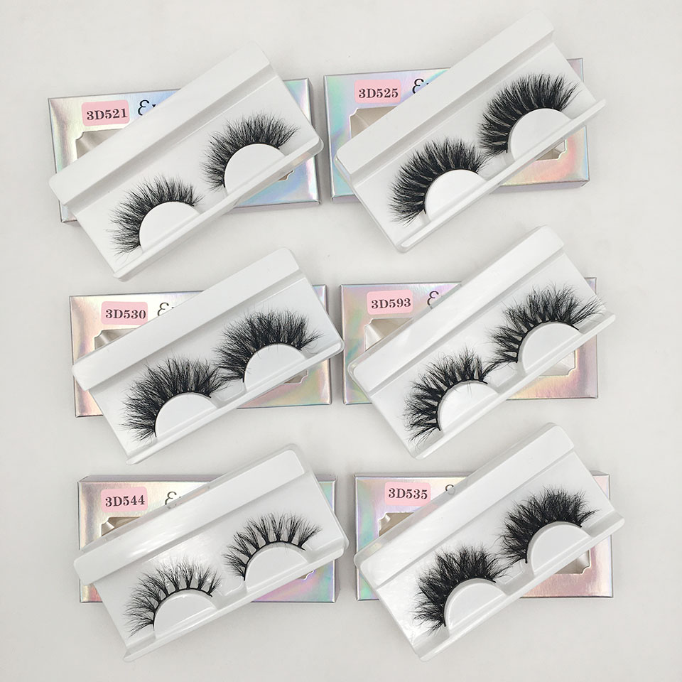 Fluffy Messy Eyelashes Real Mink Lashes Handmade Short Natural False Eyelashes Makeup Wholesale Fake Eyelashes