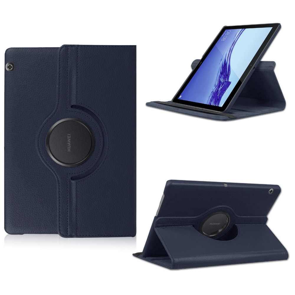 Penutup Kulit PU Stand Case untuk Huawei MediaPad T5 10 Cover untuk Huawei Media Pad AGS2-W09 AGS2-L09 AGS2-L03 AGS2-W19 10.1 inci