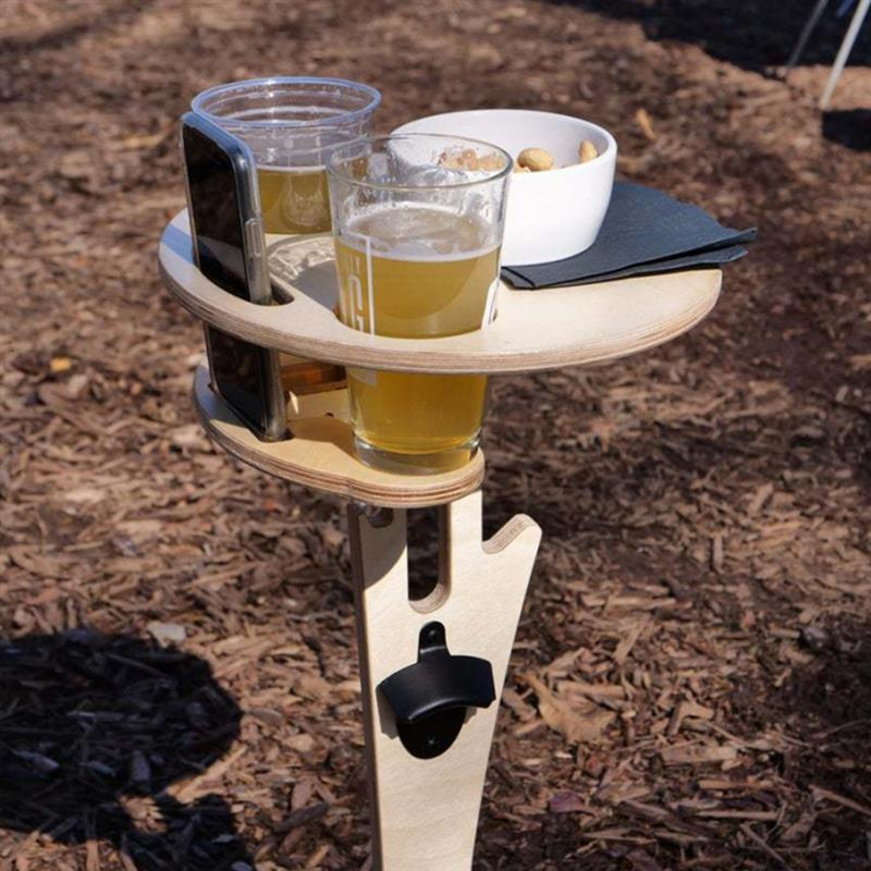 Portable Foldable Table Wine Whisky Beer Wine Folding Desk Outdoor Furniture Tables Picnic Tools Party Games Drinking Desk