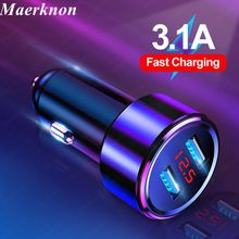 Car-Charger Led-Display Dual-Usb iPhone Xr Tablets Universal Samsung S20 for 11/pro-Max