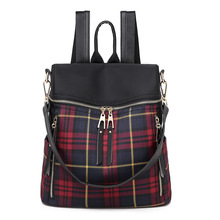 Fashion plaid backpack female crossbody bags for women 2019 high quality backpack woman school shoulder bag for youth bags new limited quantity men and women colorful plaid mosaic backpack rainbow magic cube double shoulder bag school book bags