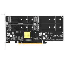 4 in 1 Cards Adapter M.2 Raid Controller/SSD/Card Pci-E/Pcie M.2 SSD Pcie X16 for M.2 Nvme Support PC Server Raid Array