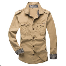 Wholesale Outdoor Army leisure men's long sleeve cotton unif