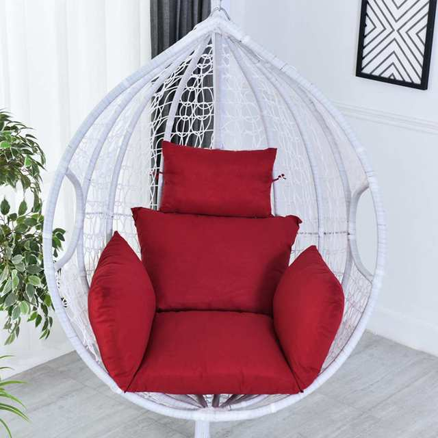 Cotton Stuffing Hanging Basket Chair Cushions Egg Hammock Thick Back Pillow For Indoor Outdoor Patio Yard Garden Beach Office 6