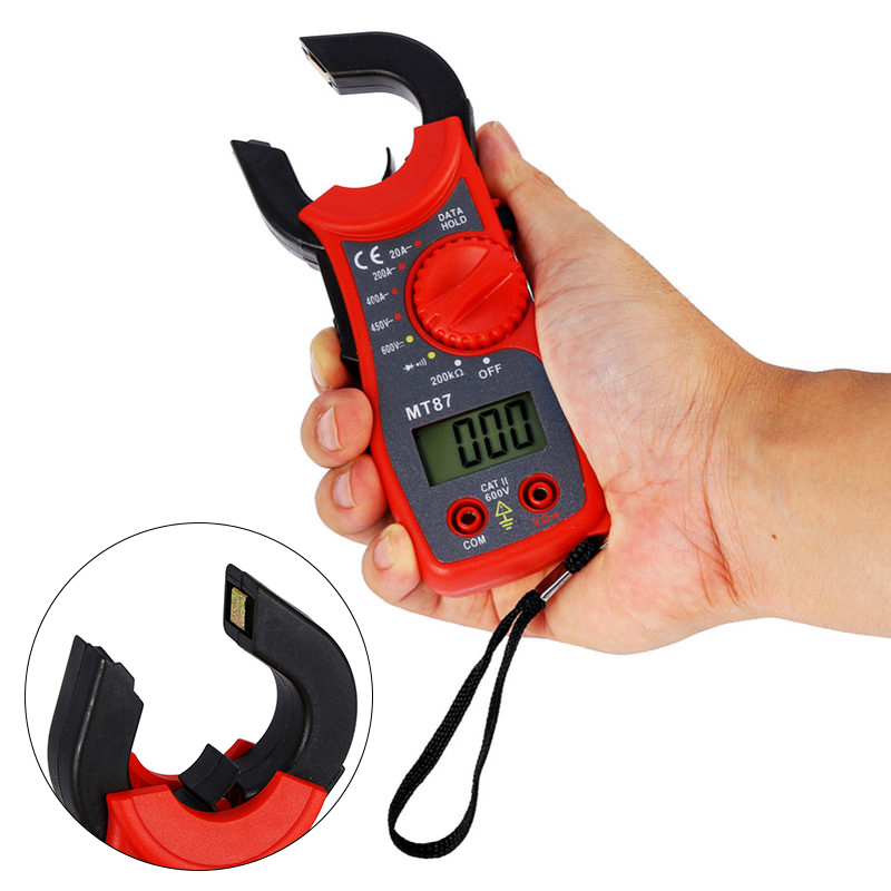 MT87 LCD Digital Clamp Meters Multimeter Measurement AC DC Voltage Tester Current Resistance High Quanlity Clamp Meters image