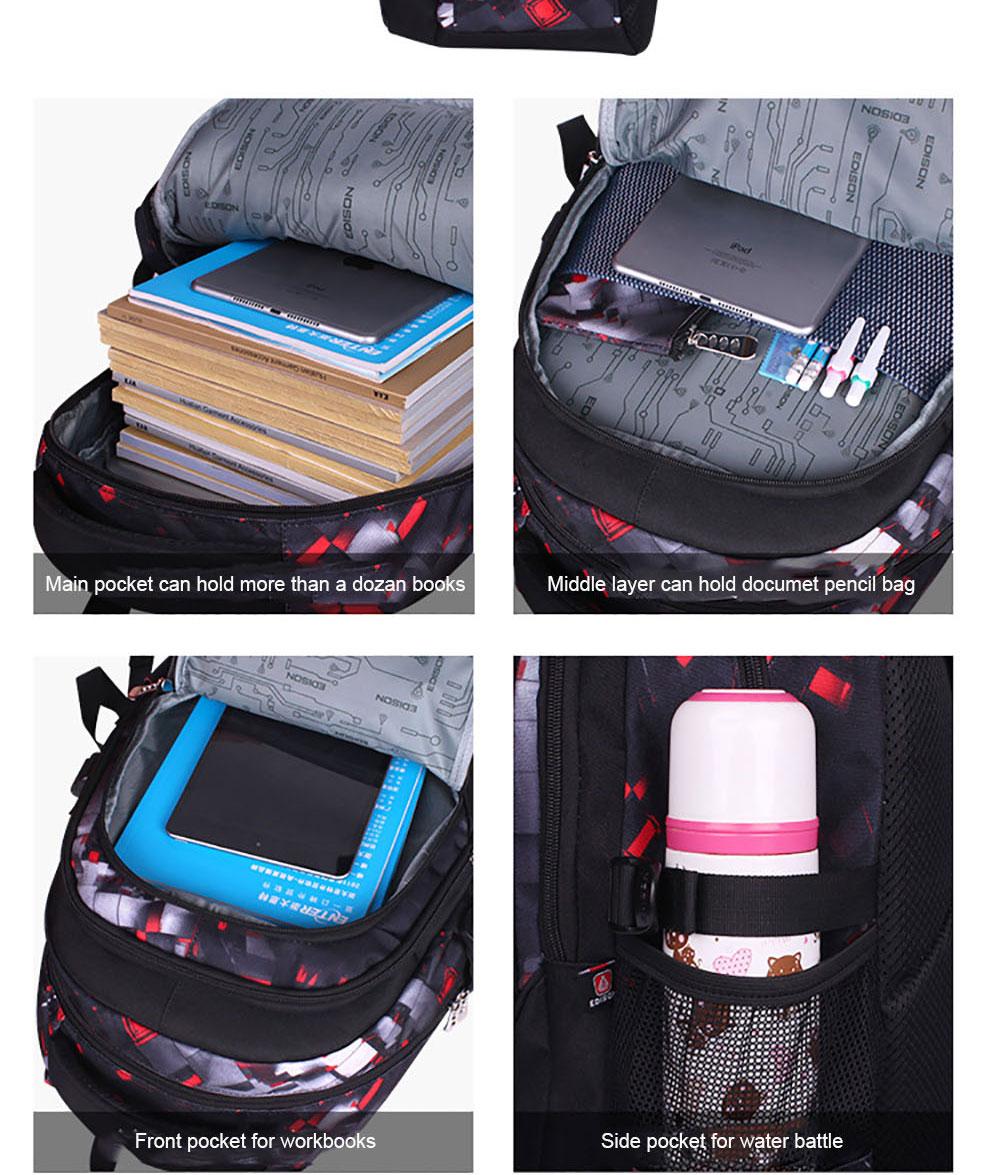 Edison σχολικό backpack για αγόρι msow