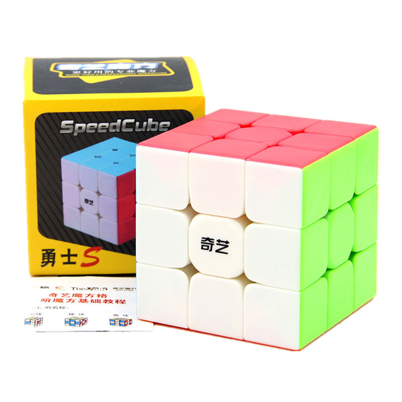 Qiyi Warrior S 3x3 Magic Cube Colorful Stickerless Speed Cube Antistress 3x3x3 Learning Educational Puzzle 3x3 Cubo Magico Toys(China)
