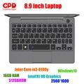 Chegada nova gpd p2 max 8.9 Polegada portátil tela de toque inter core m3-8100y 16 gb 512 gb mini pc bolso portátil notebook windows10