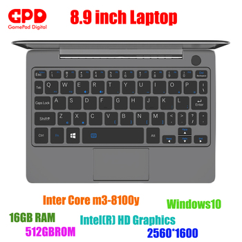 Nieuwe collectie GPD P2 Max 8.9 Inch laptop Touch Screen Inter Core m3-8100y 16GB 512GB Mini PC Pocket laptop notebook Windows10