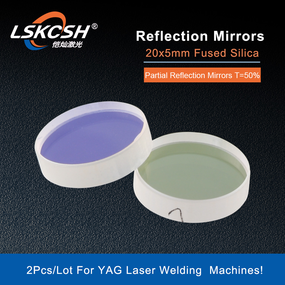 LSKCSH YAG Laser Reflective Espelhos Espelhos de Reflexão Total Metade Parcial 20x5mm Sílica Fundida para o Corte A Laser/ máquina de solda