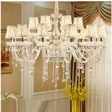 Crystal Chandelier Lighting  Living Room K9 Chandeliers Clear Hanging Lights Fixture Wedding Decoration Pendant Lamp